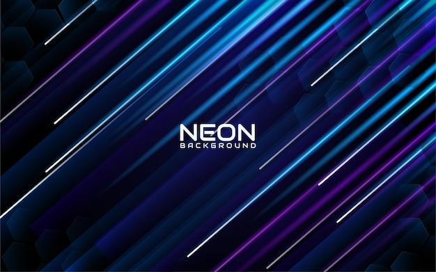 Fond de rayures néon bleu et violet