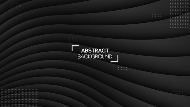 Fond de rayures noires modernes avec style géométrique