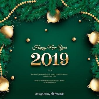 Fond réaliste du nouvel an 2019