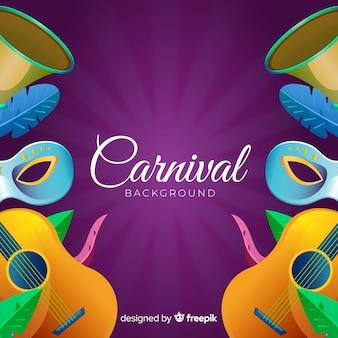 Fond réaliste d'éléments de carnaval