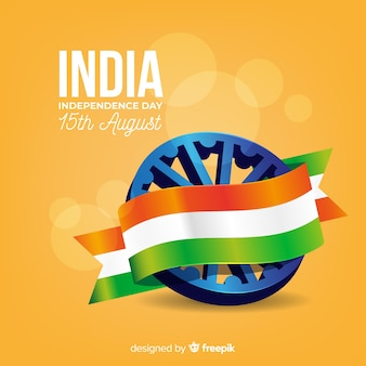 Fond réaliste de la fête de l'indépendance en inde