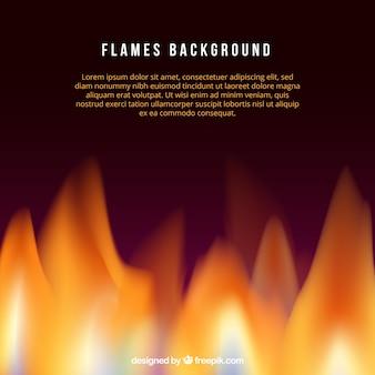 Fond réaliste de flamme