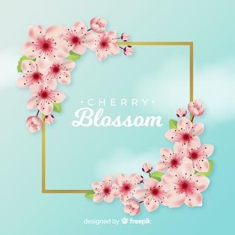 Fond réaliste de fleurs de cerisier