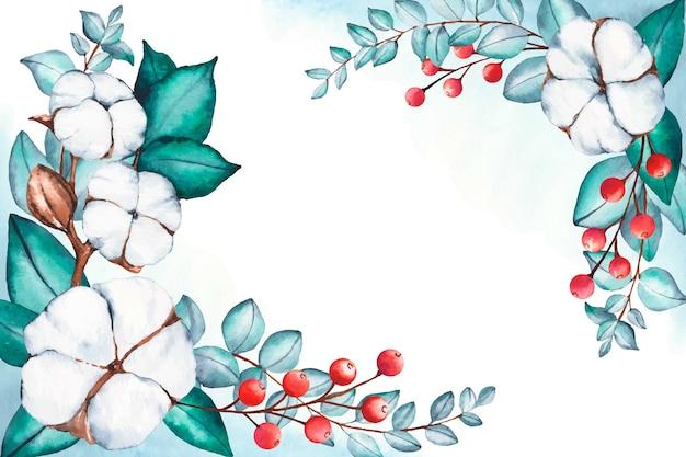 Fond réaliste floral peint à la main