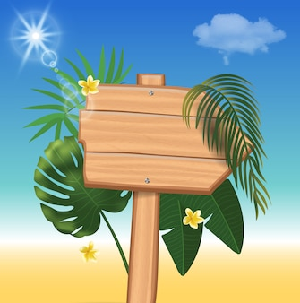 Fond réaliste de vacances d'été. illustration