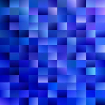 Fond de rectangle abstrait géométrique - conception de vecteur de mosaïque dégradée à partir de rectangles dans les tons bleus