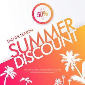 Fond de réduction d'été