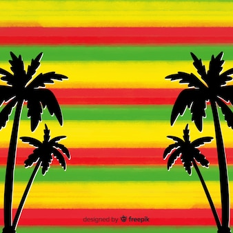 Fond de reggae rayures