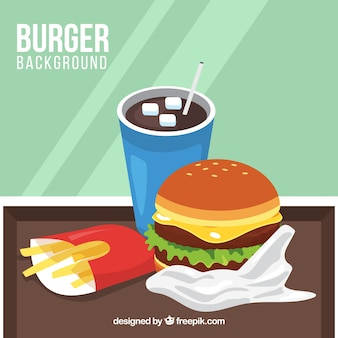 Fond de repas de hamburger