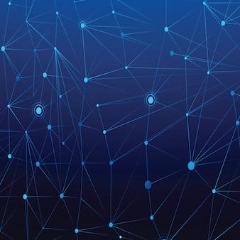 Fond de réseau abstrait