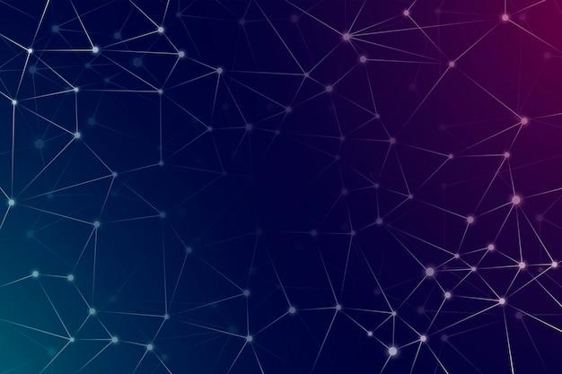 Fond de réseau dégradé avec des points