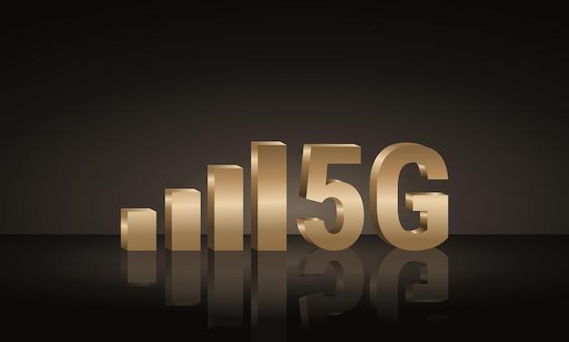 Fond de réseau internet 5g de signal