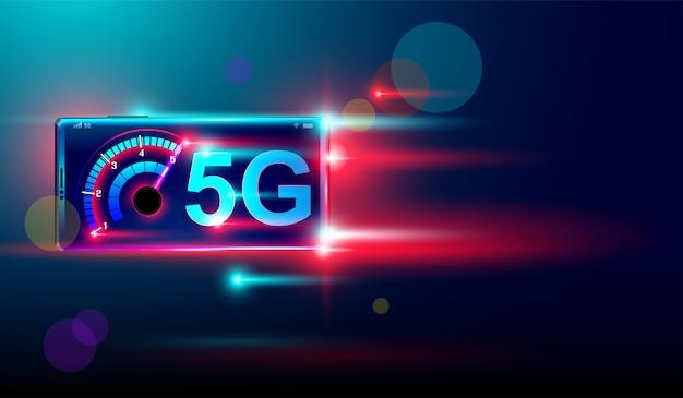 Fond de réseau sans fil 5g