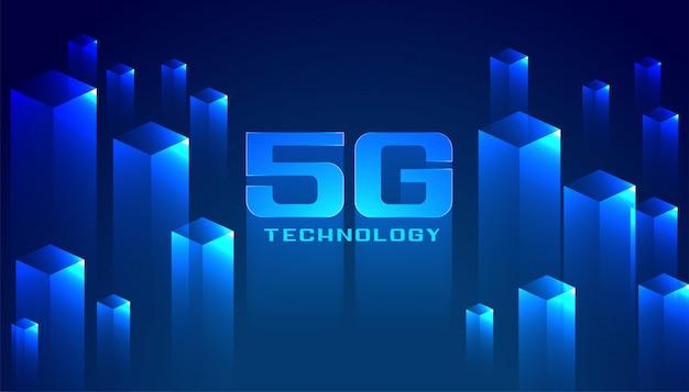 Fond de réseau de technologie numérique 5g
