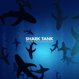 Fond de réservoir de requin