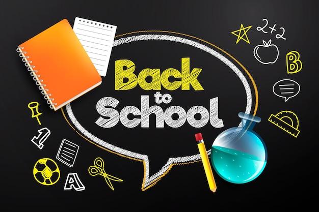 Fond de retour réaliste à l'école
