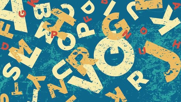 Fond rétro avec l'alphabet