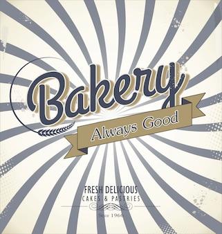 Fond rétro de boulangerie