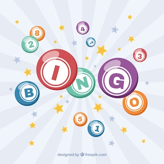 Fond rétro des étoiles et des balles de bingo
