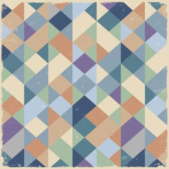 Fond rétro géométrique aux couleurs pastel