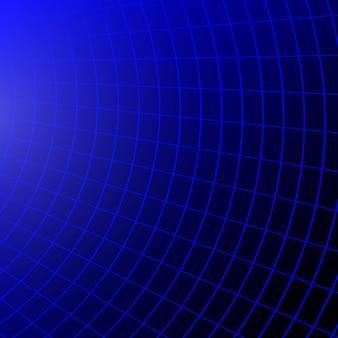 Fond rétro avec grille de perspective. illustration vectorielle