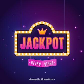 Fond rétro jackpot