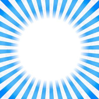 Fond rétro avec des rayons bleus