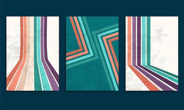 Fond rétro avec des rayures colorées et texture grunge vintage
