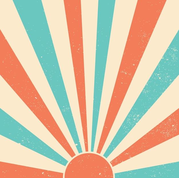 Fond rétro starburst
