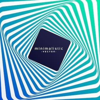 Fond rétro de vecteur minimaliste de style rétro avec effet 3d