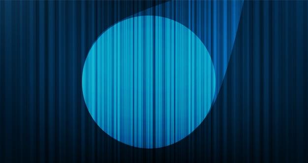 Fond de rideau bleu clair avec lumière de scène, haute qualité et style moderne.