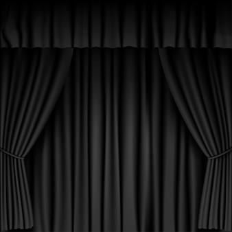 Fond de rideau noir