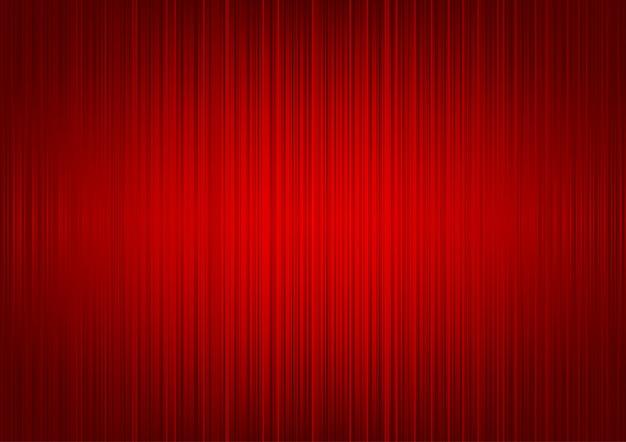 Fond de rideau rayé rouge