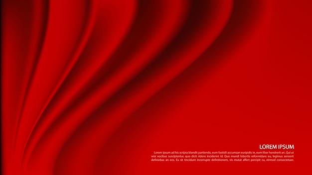Fond de rideau rouge de luxe