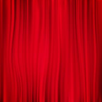 Fond de rideau rouge.