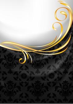 Fond de rideau en tissu noir