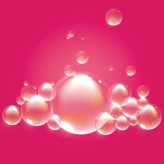 Fond rose avec des bulles
