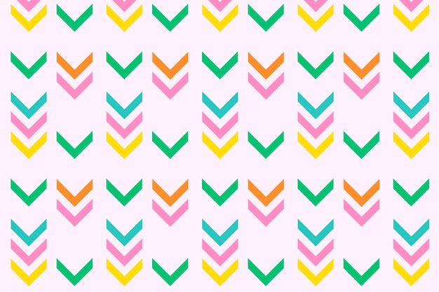 Fond rose flèche, motif en zigzag, vecteur de conception colorée