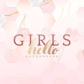 Fond rose girly