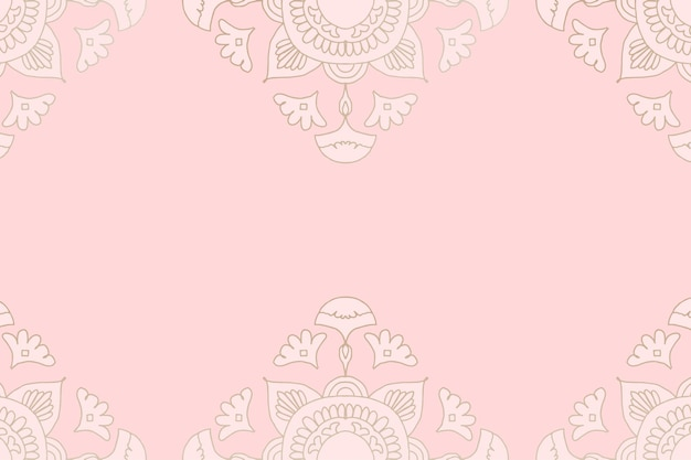 Fond rose mandala