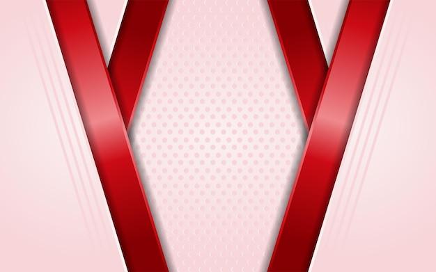 Fond rose moderne avec élément de lignes rouges simples