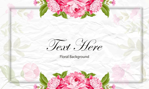 Fond rose motif de carte floral rose mariage design cadre amour vintage nature invitation fleurs.