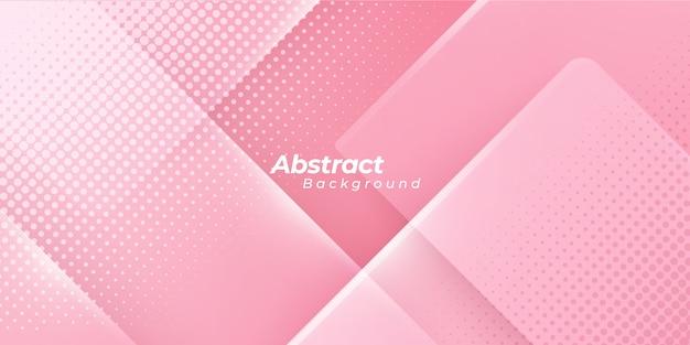 Fond rose avec des points de demi-teintes abstraites.