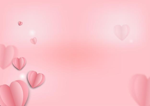 Fond rose pour le festival et le mariage de la saint-valentin