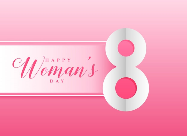 Fond rose pour la journée des femmes heureux