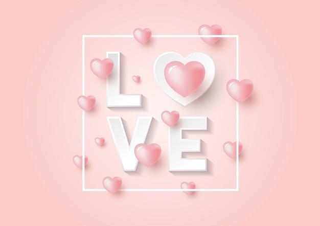 Fond rose pour la saint valentin
