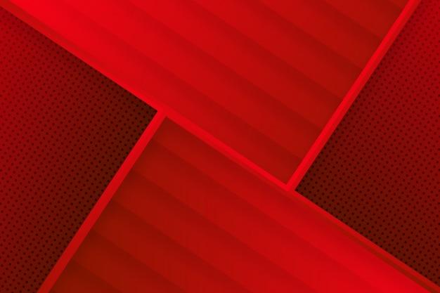 Fond rouge abstrait géométrique moderne