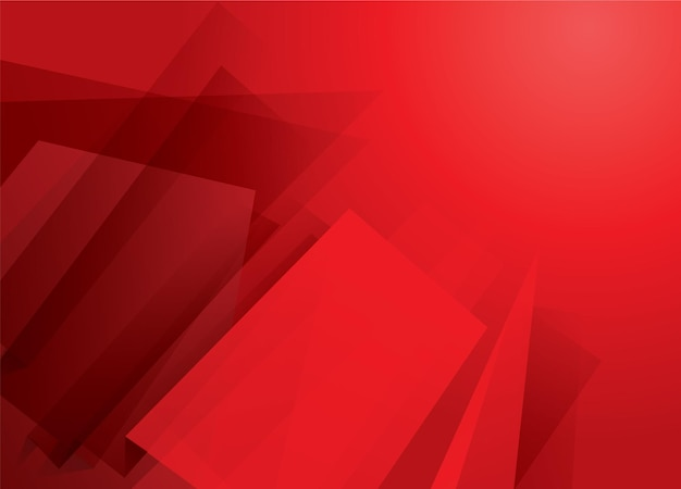 Fond rouge abstrait lumineux avec des rectangles et des formes modernes