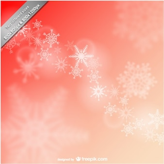 Fond rouge avec des flocons de neige