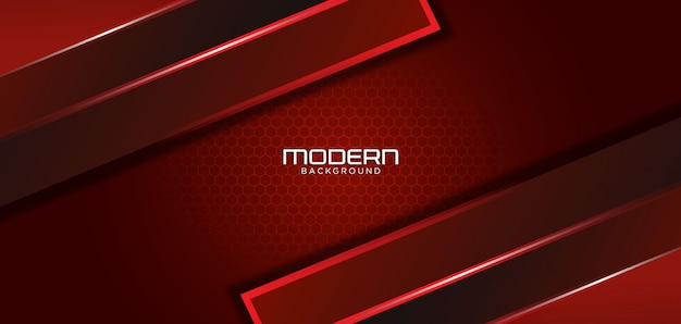 Fond rouge foncé moderne avec forme abstraite
